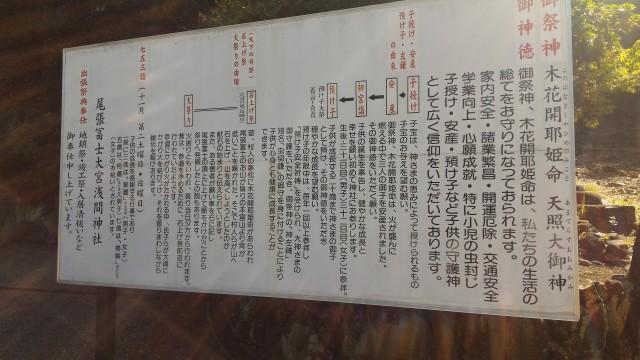 「尾張富士大宮浅間神社」犬山市由緒