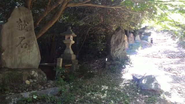 「尾張富士大宮浅間神社」(犬山市)境内かあ奥宮への上り坂