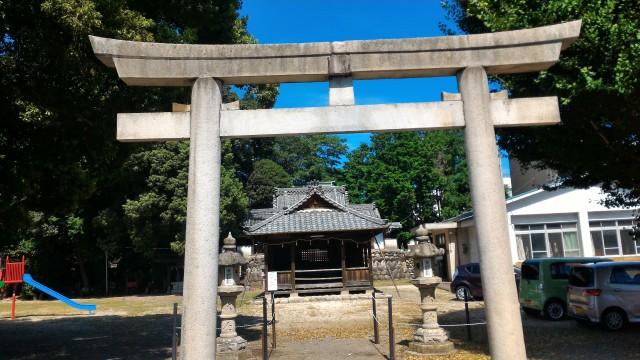 愛知県犬山市木ノ下城跡愛護神社の鳥居