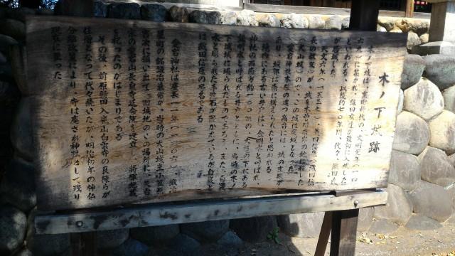 愛知県犬山市木ノ下城跡の歴史の由緒