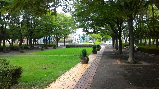 朝宮公園(愛知県春日井市)の駐車場付近