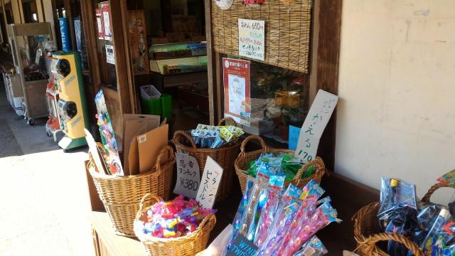 日本昭和村(岐阜県美濃加茂市)の駄菓子屋「美濃屋」の店先の商品