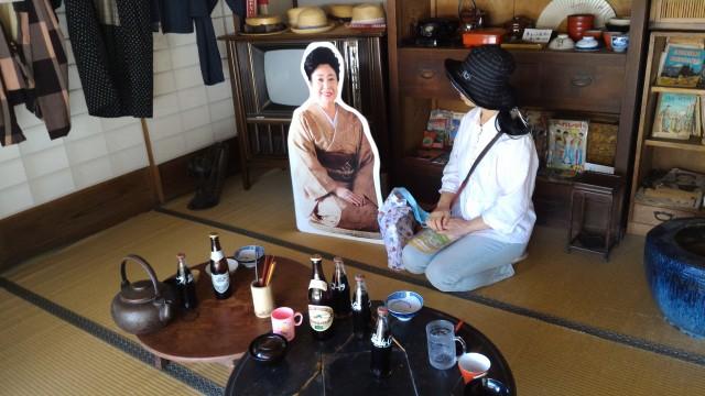 日本昭和村(岐阜県美濃加茂市)の昭和の民家で玉緒さんと