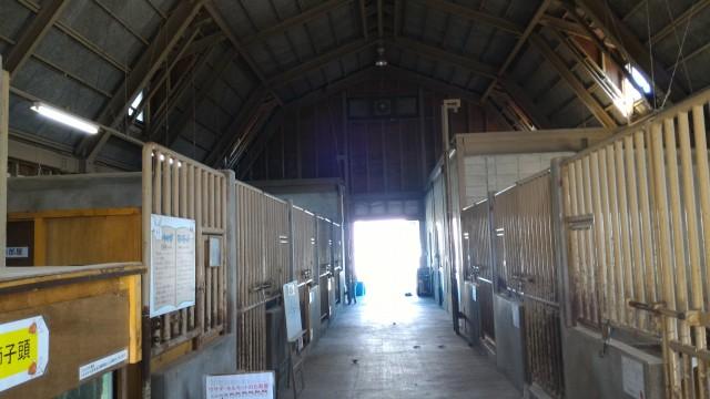 日本昭和村のふれあい牧場の「まきばのお家」