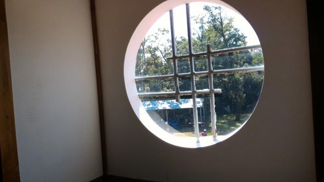日本昭和村(岐阜県美濃加茂市)のひだ朝日村役場資料館・純和風窓