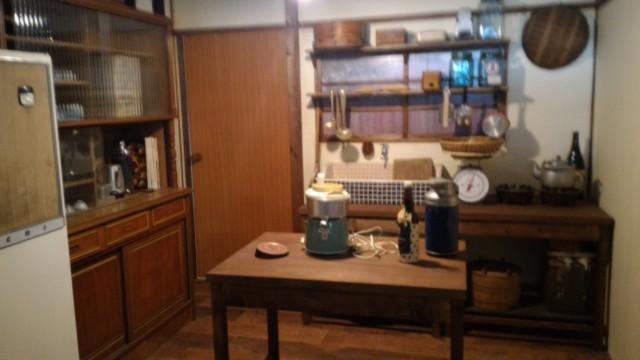 日本昭和村(岐阜県美濃加茂市)のやまびこ学校(昭和パビリオン)台所
