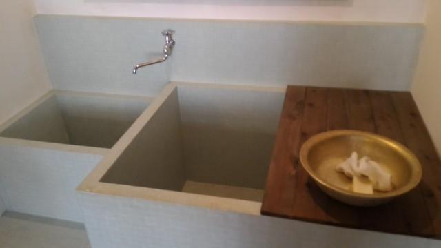 日本昭和村(岐阜県美濃加茂市)のやまびこ学校(昭和パビリオン)お風呂場