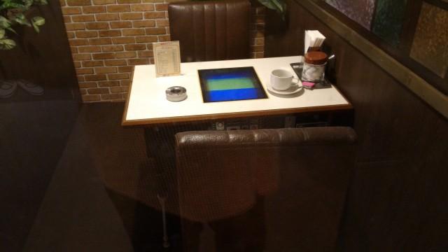 やまびこ学校(昭和パビリオン)商店街喫茶店の中のテーブルゲーム機