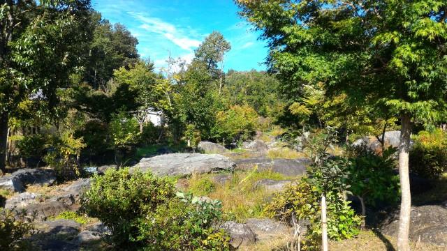 日本昭和村(岐阜県美濃加茂市)の「遊びの広場」付近の景色