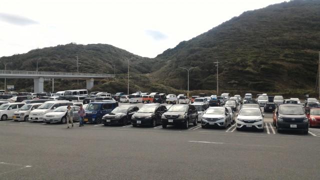 道の駅「伊良湖クリスタルポルト」前の駐車場(愛知県田原市)