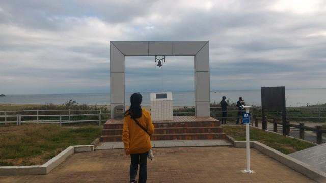 伊良湖岬恋路ヶ浜にある「幸せの鐘」(愛知県田原市)