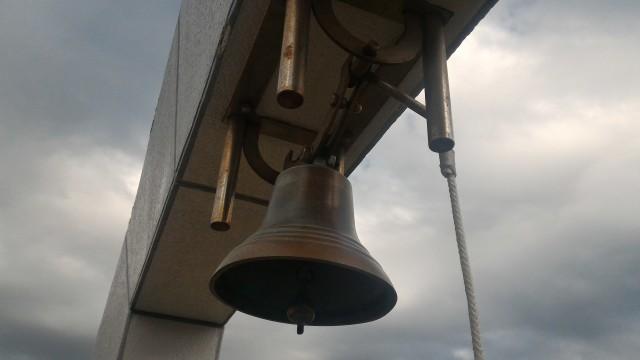 伊良湖岬恋路ヶ浜にある「幸せの鐘」(愛知県田原市)アップ
