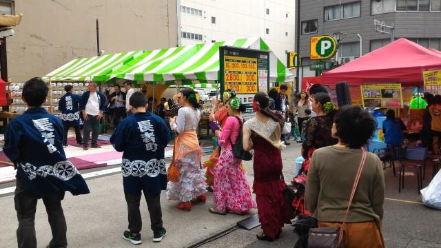 「長者町ゑびす祭り」特設ステージでフラメンコ
