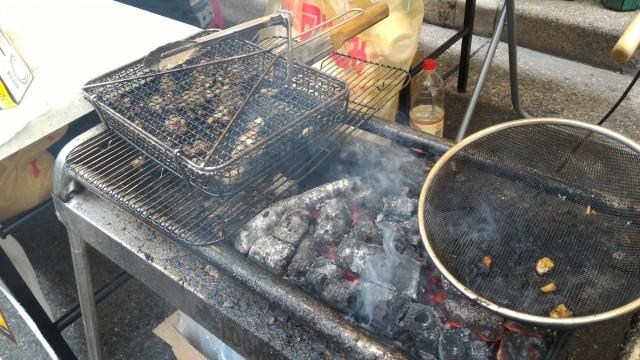 「長者町ゑびす祭り」炭火焼地鶏の屋台
