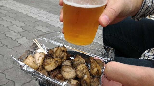 「長者町ゑびす祭り」炭火焼地鶏と生ビール