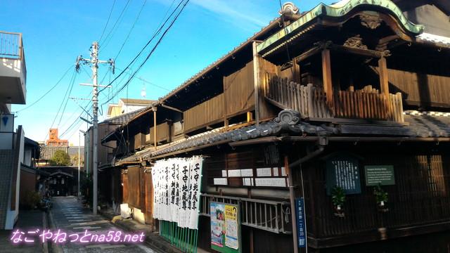 名古屋市西区四間道(しけみち)の子守地蔵尊と路地