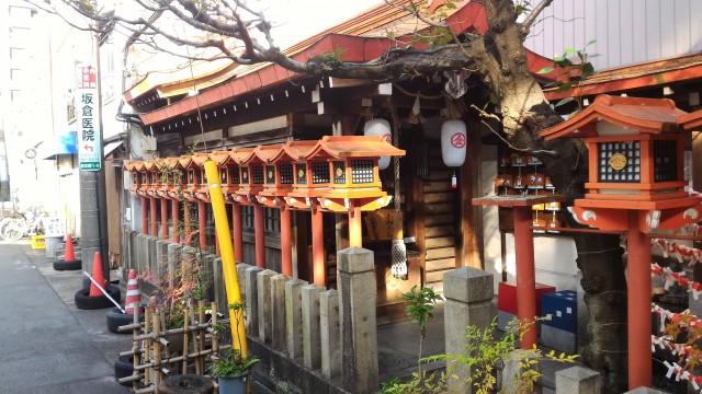 名古屋市西区円頓寺商店街の金刀比羅神社(名古屋弁のおみくじがある)外観