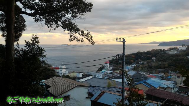 熱海伊豆山神社本殿境内からの景色