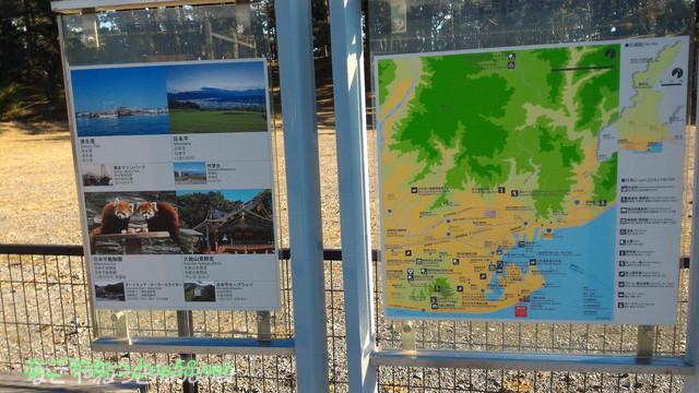 静岡県三保の松原駐車場にある付近の地図と観光名所案内