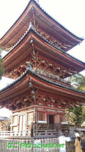 愛知県あま市の甚目寺観音の三重塔