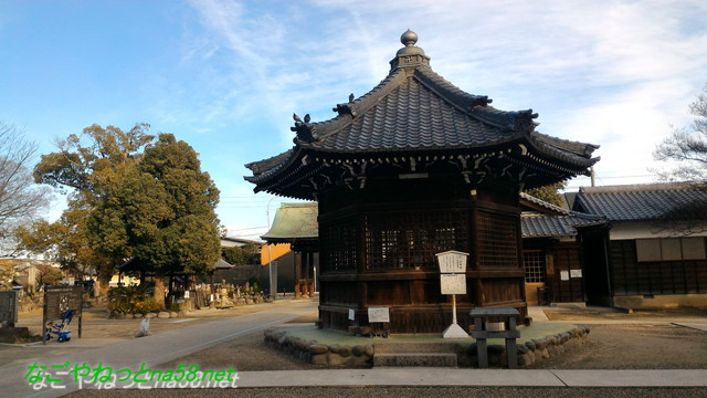 愛知県あま市の甚目寺観音の六角堂