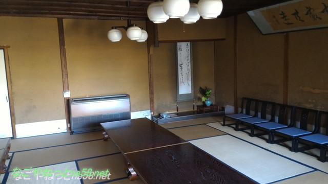 鯉料理「大黒屋」(三重県桑名市)の広い客室和室