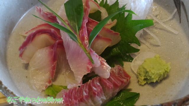 鯉料理「大黒屋」(三重県桑名市)ランチメニュー、鯉のあらい