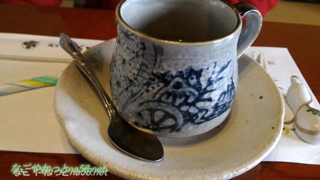 鯉料理「大黒屋」(三重県桑名市)ランチにつく飲み物コーヒー