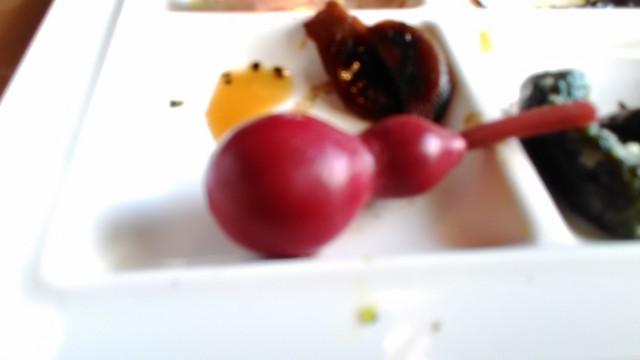 熱海温泉「熱海ホテルパイプのけむり」の朝食バイキングでのひょうたん漬物