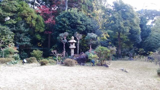 熱海温泉「熱海ホテルパイプのけむり」の食事レストランから見る庭