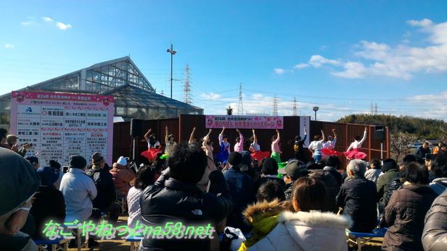 佐布里池の梅林(愛知県知多市)のイベント「知多娘」のステージ