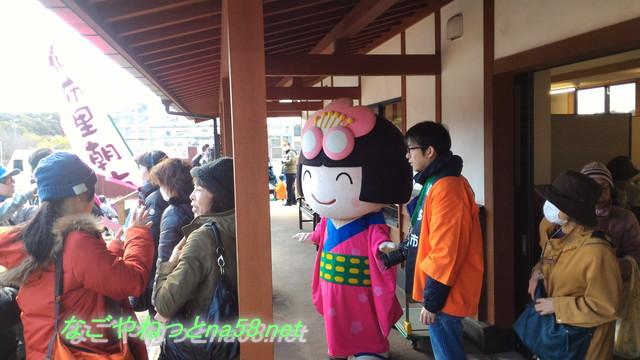 佐布里池の梅林(愛知県知多市)梅まつりで梅子ちゃん