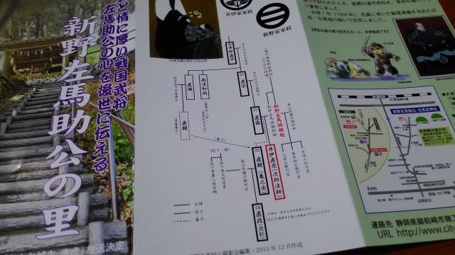 井伊家の家系図です。掛川に言ったときに観光協会でもらってきました。