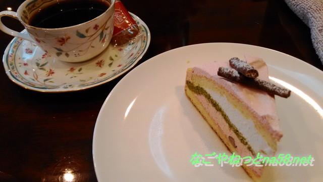 愛知県半田市博物館前の「有里珈琲館」のオーガニックフロールコーヒーと桜ケーキ