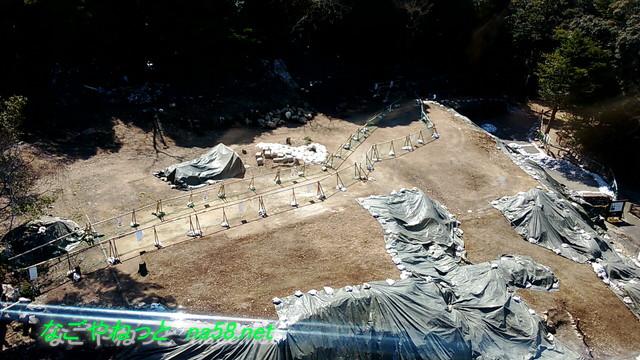 岐阜金華山ロープウェイからの眺め居館跡の発掘調査