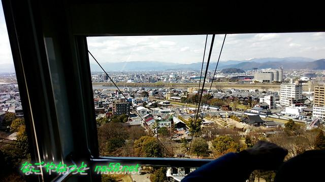 岐阜金華山ロープウェイからの眺め岐阜市内