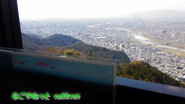 岐阜城金華山の展望レストランからの景観