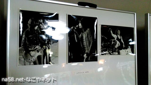「名古屋市、公会堂とロックコンサートの半世紀」パネル展会場・エアロ・スミス
