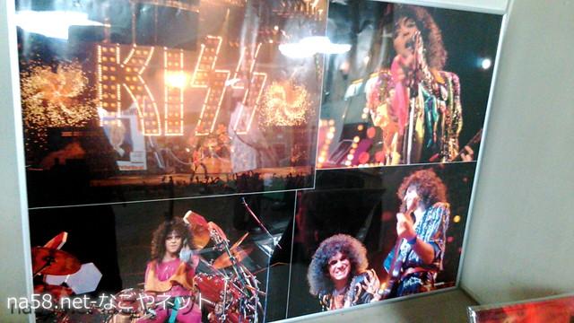 「名古屋市、公会堂とロックコンサートの半世紀」パネル展会場・キッス