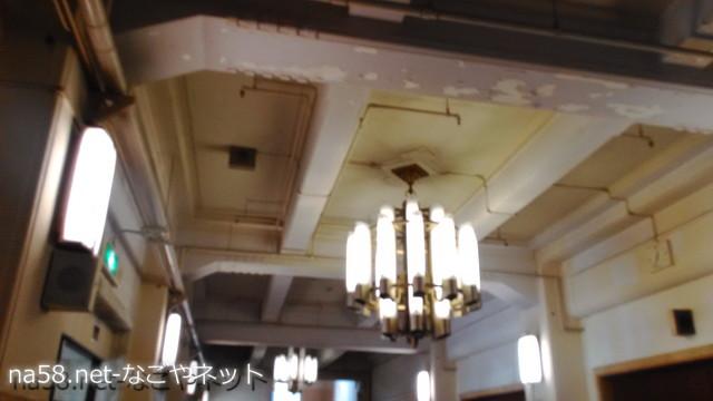 名古屋市公会堂の内部天井シャンデリア
