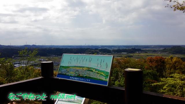 浜松市井伊谷城跡からの展望