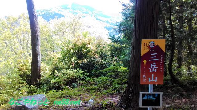 浜松市井伊谷城跡から三岳山を眺めたところ