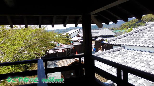 浜松市「気賀関所」内にある物見やぐらからの景色