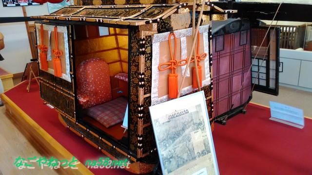 浜松市「気賀関所」姫街道を通る姫様のおかご
