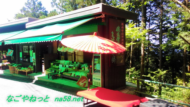鳳来寺山パークウェイ駐車場からすぐにある茶屋土産や