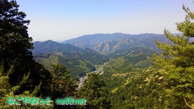 鳳来寺山鳳来寺展望台からの眺望