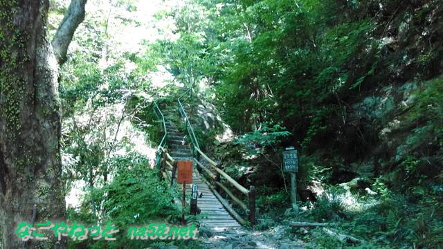 鳳来寺本堂から山を登る道