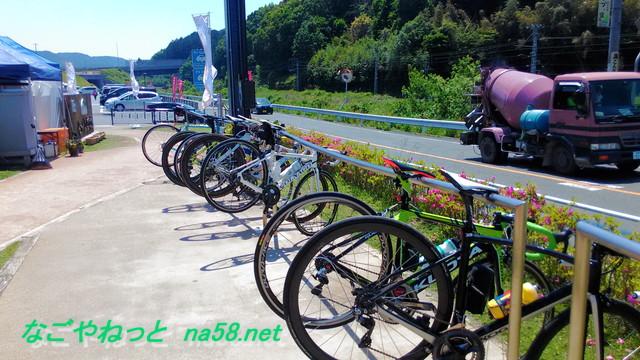 道の駅「もっくる新城」愛知県新城市の自転車置き場