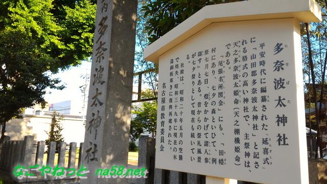 名古屋市北区多奈波太(たなばた)神社の由緒解説