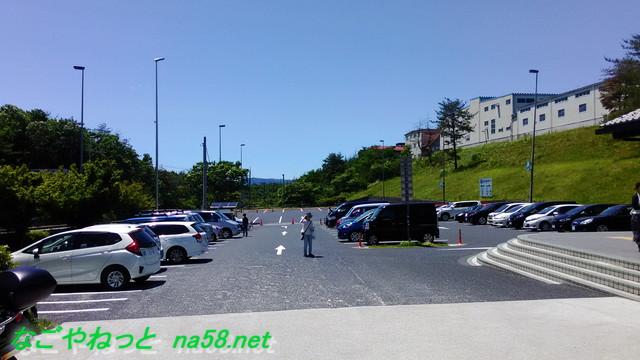 「道の駅志野・織部」の駐車場全景